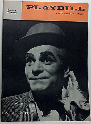 1958 The Entertainer playbill w/ Laurence Olivier color. Royale Theatre