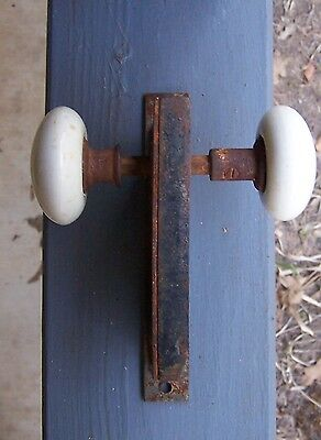 Antique White Porcelain Door Knobs with key