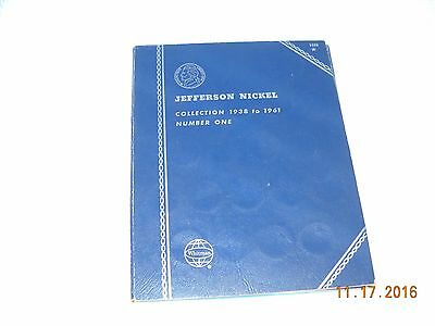 Jefferson Nickel Collection 1938-1961 Number One Whitman Book with 36 Coins