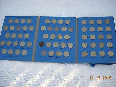 Lot of 59  JEFFERSON  NICKELS 1940-1980 mixed in book