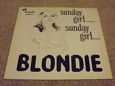"Blondie Sunday Girl / Sunday Girl French Rare 12"" Vinyl Single not CD"