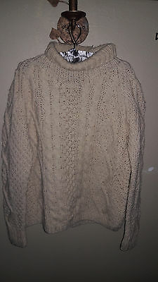 Catalina Martin Vintage 100% Wool Turtle Neck Cable Sweater Men's Sz M