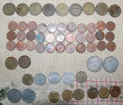Mixed lot of coins from Germany and Austria: 1940s - 1980s, lots of patina
