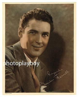Charles Farrell Popular Janet Gaynor Partner Printed Color Movie Portrait 1932