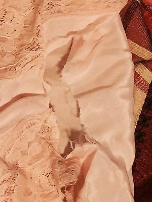 Vintage BLOOMERS Knickers Victorian Peach Silk & Lace