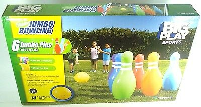 BIG PLAY Sports Inflatable Jumbo Bowling Set NEW FAST FREE SHIPPING