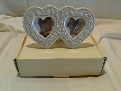 Lenox -double heart picture frame