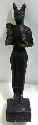 Egyptian Statue, Cat, Bastet Goddess of Love, Curved  Stone,  Read Description