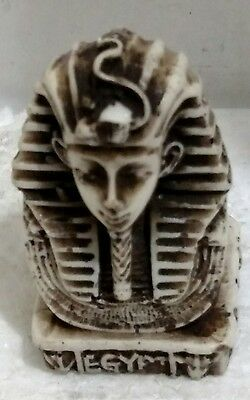 Egyptian Statue, King Tutankhamun Curved Stone,  Read Description