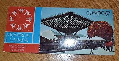 Vintage Montreal Canada Expo 67 Postcard Book Worlds Fair Souvenir Travel Unused