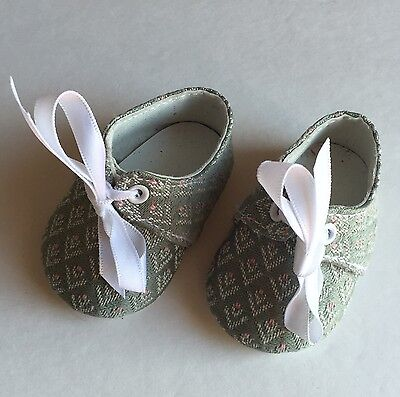 American Girl Doll Felicity BROCADE SLIPPERS SHOES From Summer Dress Outfit