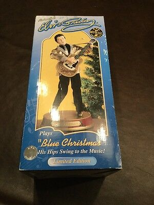 NEW ELVIS PRESLEY Animated Doll sings BLUE CHRISTMAS Gemmy Industries Corp