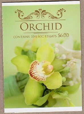 2013 AUSTRALIAN STAMP BOOKLET SPECIAL OCCASIONS ORCHID 10 x 60c STAMPS MUH