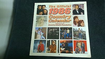 The Official 1986 COUNTRY CALENDAR COUNTRY MUSIC FOUNDATION
