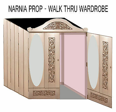 HUGE NARNIA WARDROBE - THEATRICAL PROP FOR PARTY/STAGE - design plan & Info pack