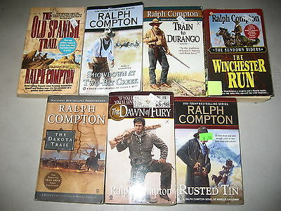 Ralph Compton Lot of 7 Westerns