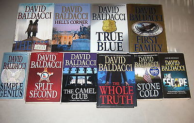 David Baldacci Collection, Lot of 10, Hell's Corner, The Escape, The Hit