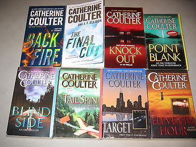 Catherine Coulter Lot of 8, FBI Series, Final Cut, Backfire, Knock Out