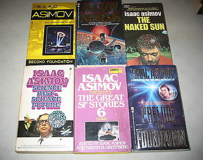 Isaac Asimov Lot of 6 Vintage Science Fiction