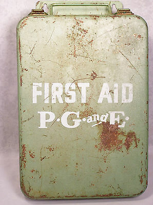 Vintage P.G.&E. Pacific Gas & Electric First Aid & Snake Bite Kit Metal..RARE!!