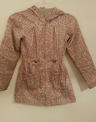 Thin Lightweight Floral Hooded Rain Jacket by Miss Evie Age 11 to 12