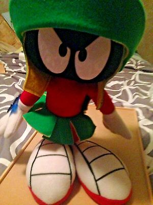 "1994 warner bros MARVIN THE MARTIAN plush 12"" APPLAUSE looney tunes"