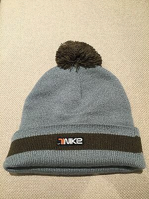 Nike Knitted Beanie Hat with Pom in Blue (One Size)