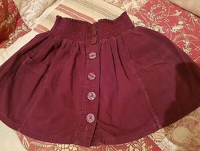 Girls Plum Thin Cord Skirt by Fatface age 8/9
