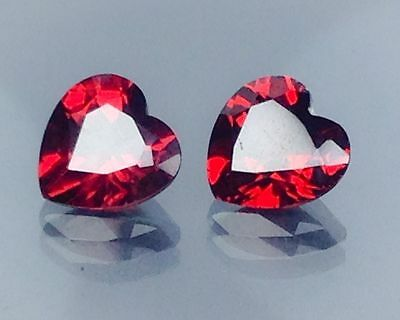3.40Cts Natural Red Garnet Gems (Free Shipping Additional 10 Items )(6043)