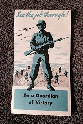 """1946 US Army Pamphlet """"Be a Guardian Of Victory"""""""