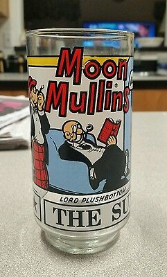 1976 Moon Mullins, The Sunday Funnies glass
