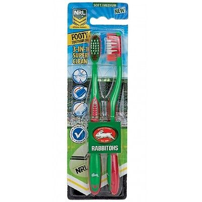 South Sydney Rabbitohs Official NRL Toothbrush Twin Pack