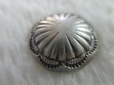 *antique/vintage Beautiful Stamped Navajo .925+ Silver Button ~ 5/8""