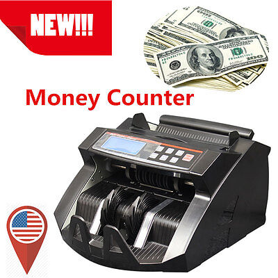 Top! Money Bill Cash Counter Bank Machine Currency Counting Uv & Mg Counterfei L