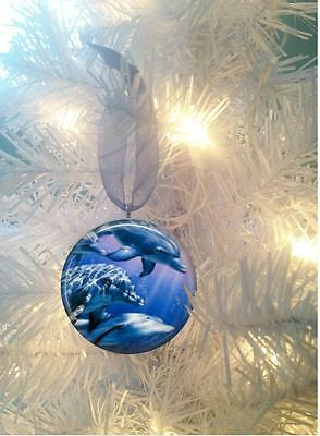 Dolphins #1 Christmas Tree Ornament