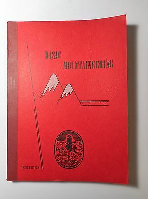 Basic Mountaineering, Sierra Club 1973 Softcover 3rd Edition Very Good