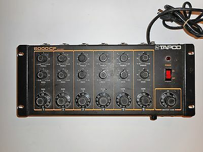 TAPCO Vintage 6 Channel Audio Mixer 6000CF USA