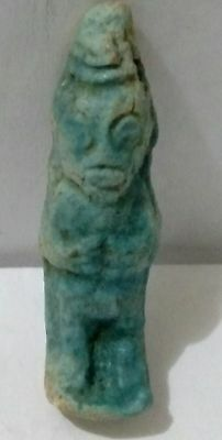 Egyptian Antique, Bes, Protector of Households, Mothers& Children Amulet Faience