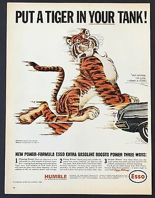 1964 ESSO Gasoline Original Advertisement AD Put Tiger In Your Tank Power Formul