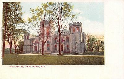 NY,  New York       THE LIBRARY AT WEST POINT              c1900's UDB Postcard