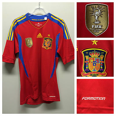 Spain 2011 formotion match un worn home shirt - new with tags