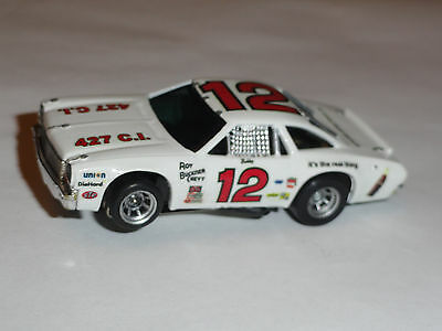Aurora Afx Chevelle #12 Coke (The Real Thing) Stocker Ho Slot Lighted Chassis!