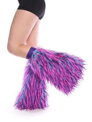 Turquoise, Purple, and Pink Monster Fluffies - Faux Fur - Made in USA