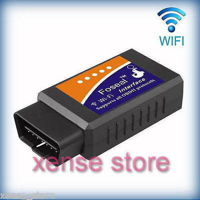 WIFI OBD 2 Foseal Car Scanner Adapter Check Engine Scan Diagnostic Tool OBDII