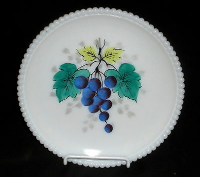 "Westmoreland BEADED EDGE FRUITS GRAPES *7 1/4"" SALAD PLATE*BE-17*WG**"