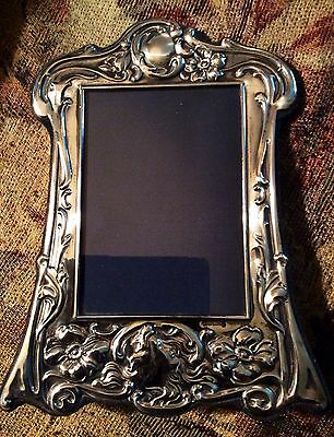 "Vintage 7""X 8 1/2"" ART NOUVEAU STERLING SILVER FRAME Carrs of Sheffield."