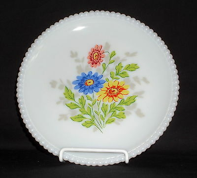 "Westmoreland BEADED EDGE FLORAL DAISIES *7 1/4"" SALAD PLATE*BE-17"