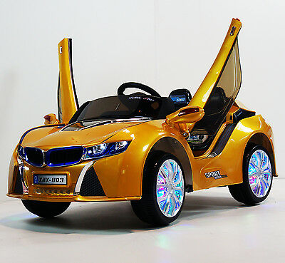 Kids Ride On Car BMW I8 XMX803 Yellow Ride On Car With R/C  Battery Operated 12V