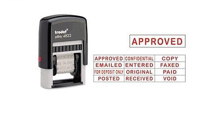 Trodat Printy 4822 Self-Inking 12 Message Stamp, Red Ink