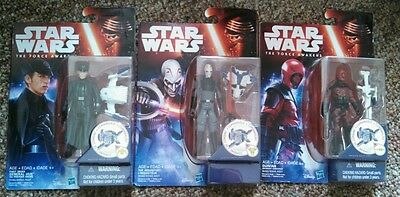 Inqusitor/General Hux/Guavian 2015 Star Wars The Force Awakens Combine MOSC Lot